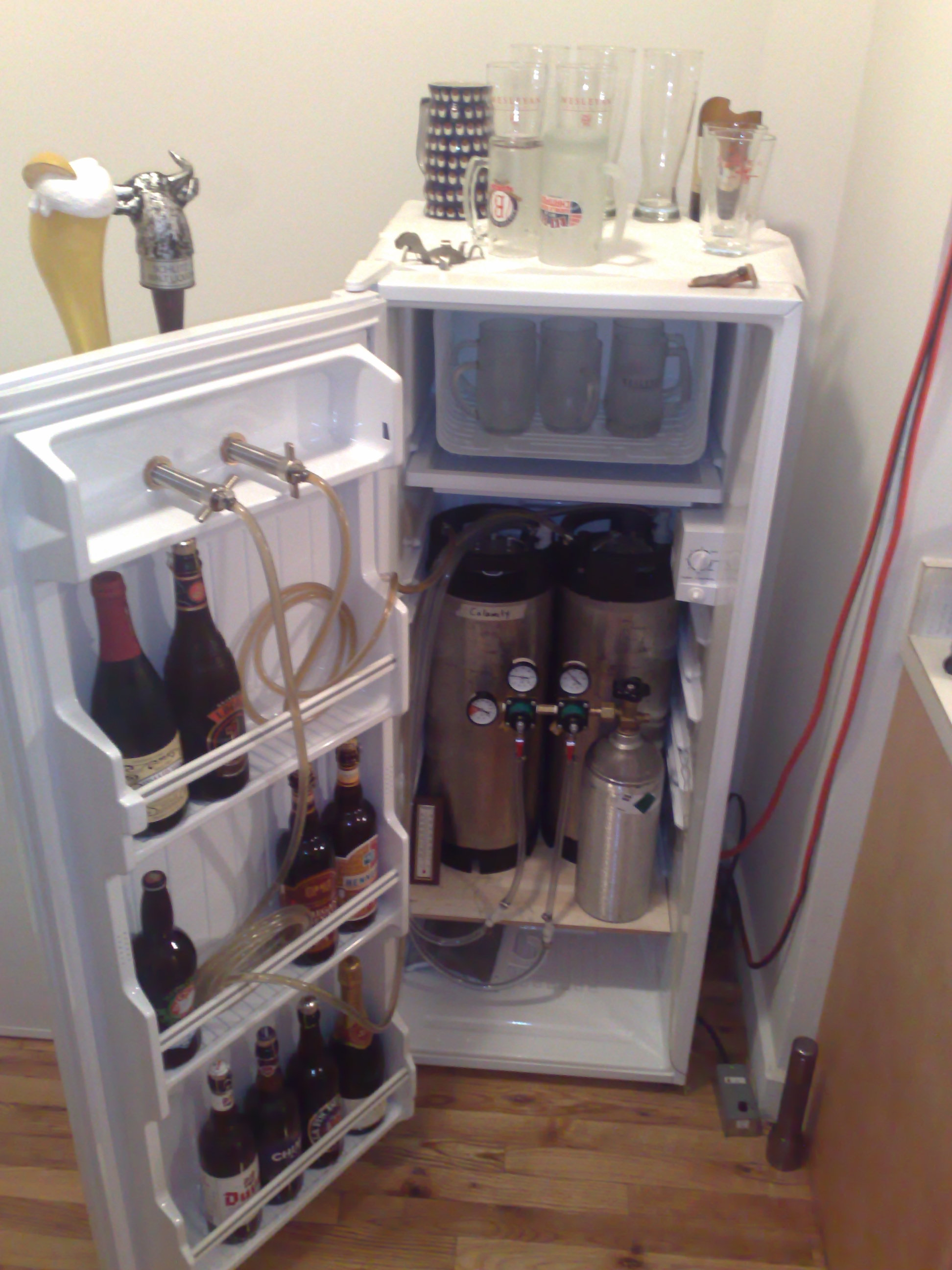 Build your own kegerator homebrew draft beer diesel 39 s for How much money does it take to build a house